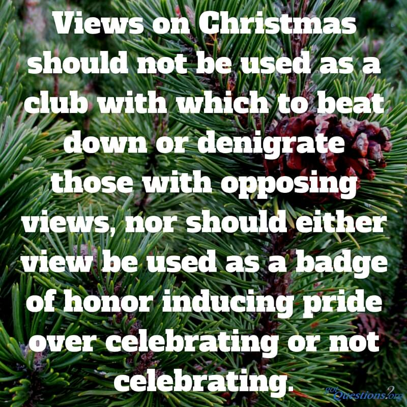 should christians celebrate christmas