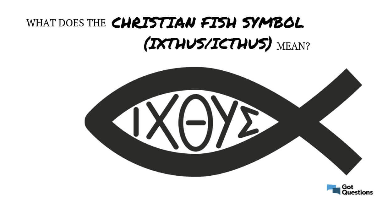 9244b8d2641 What does the Christian fish symbol mean (ixthus / icthus)?