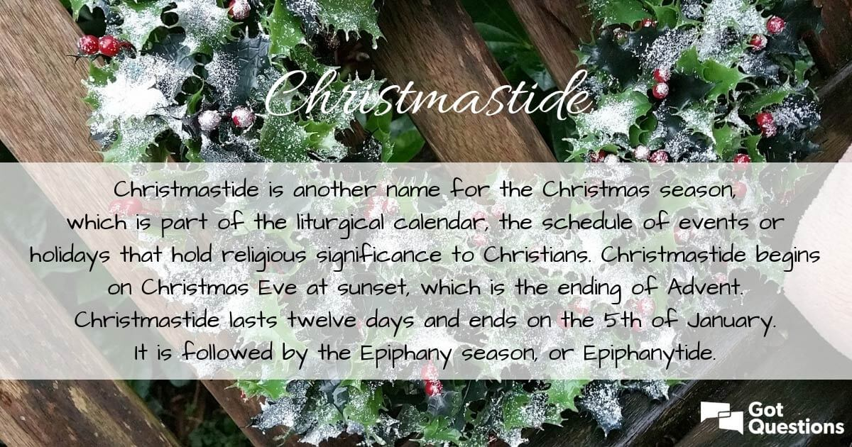 what is christmastide