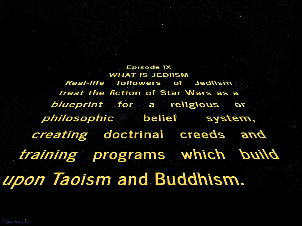 jediism bible Jediism does not require prayer, worship, or other such actions as some other religions might instead of ceremonies, members of jediism share common beliefs and ideals one of the definitions for religion is a sharing of common beliefs and that's exactly what makes jediism a religion.