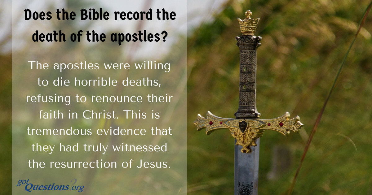 Does the Bible record the death of the apostles? How did each of the