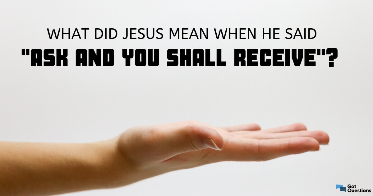 What did Jesus mean when He said,