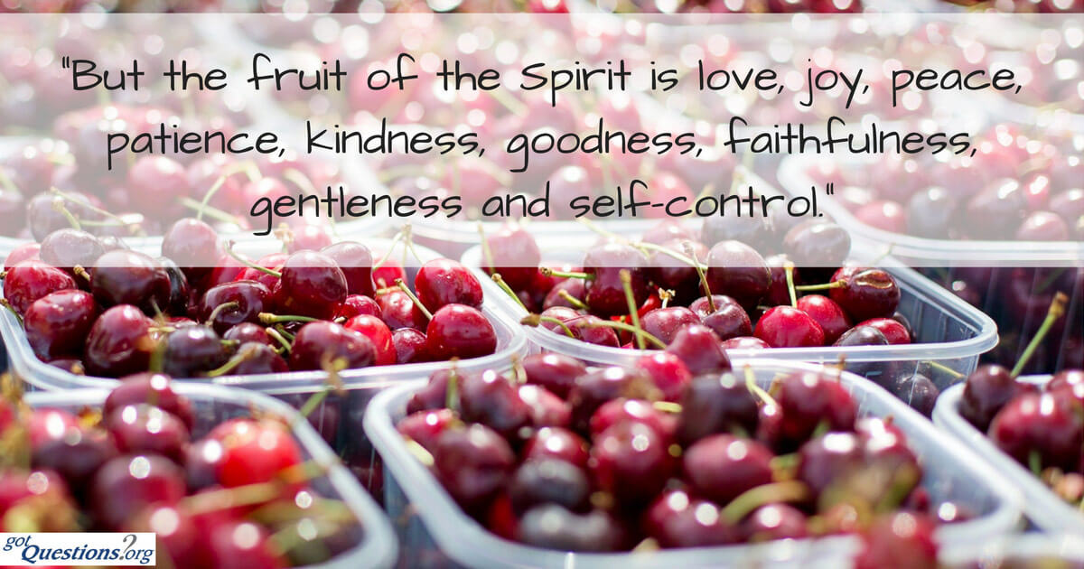 what is the fruit of the holy spirit