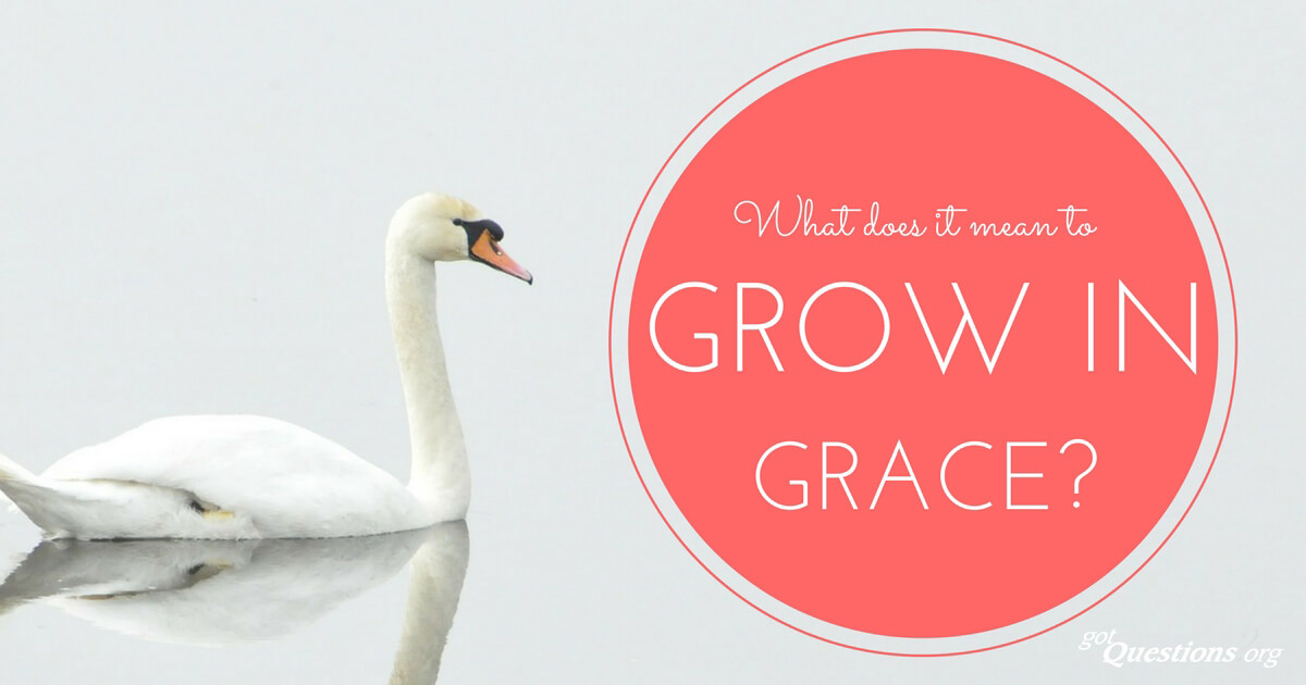 What does it mean to grow in grace? | GotQuestions org