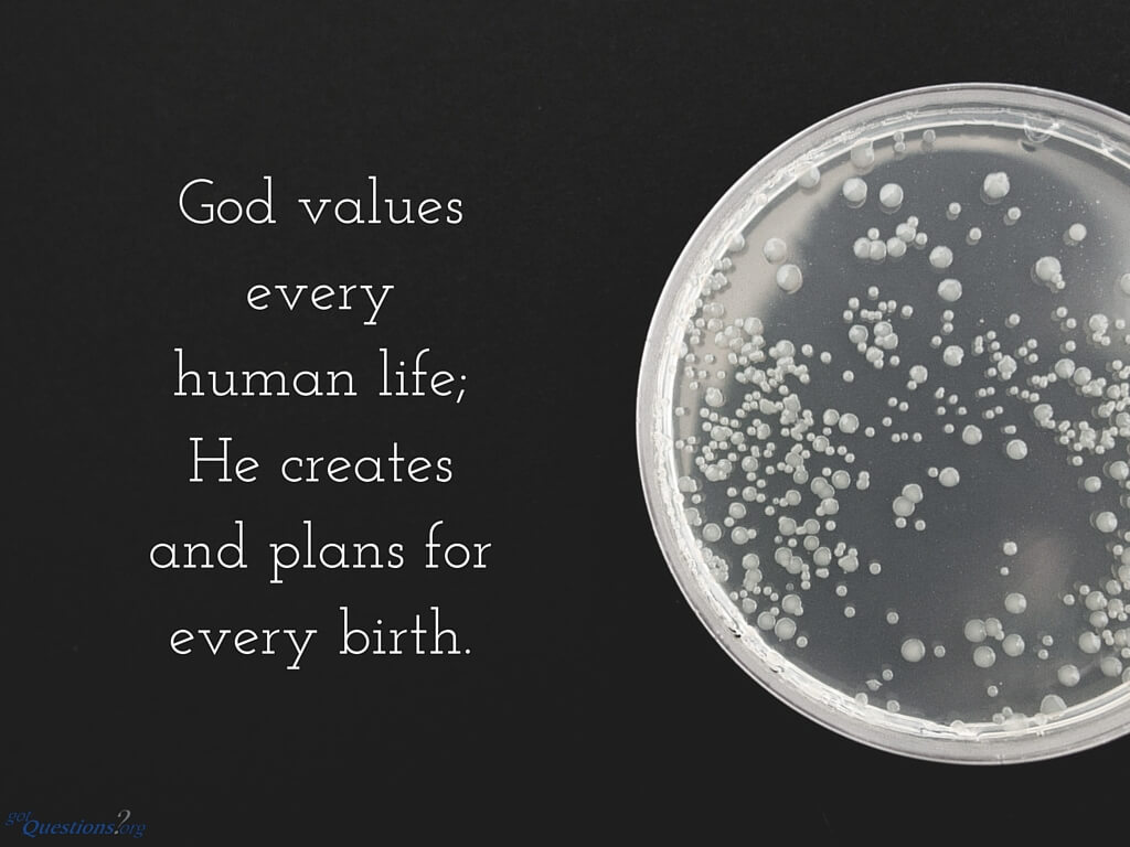 what does the bible say about in-vitro fertilization?