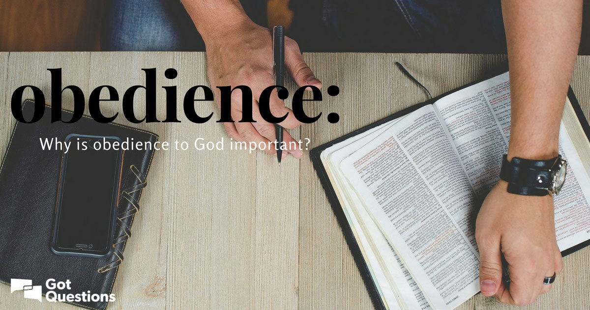 Why is obedience to God important?   GotQuestions org