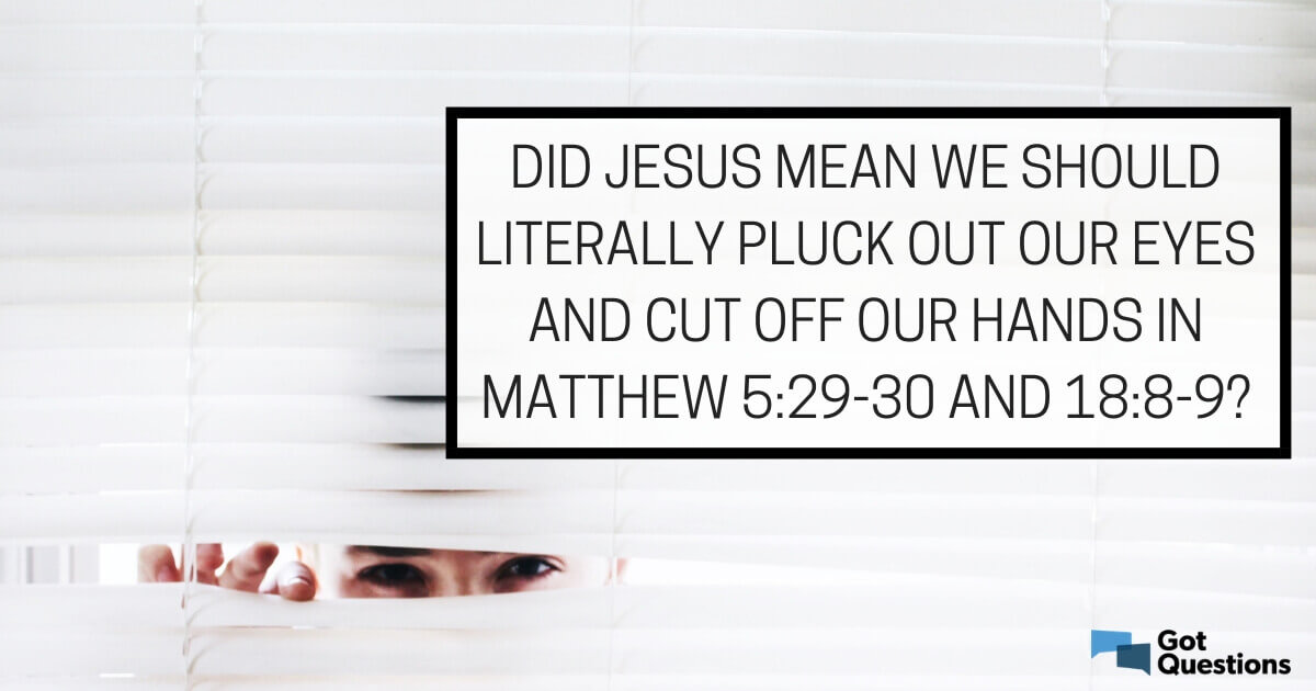 Did Jesus mean we should literally pluck out our eyes and cut off