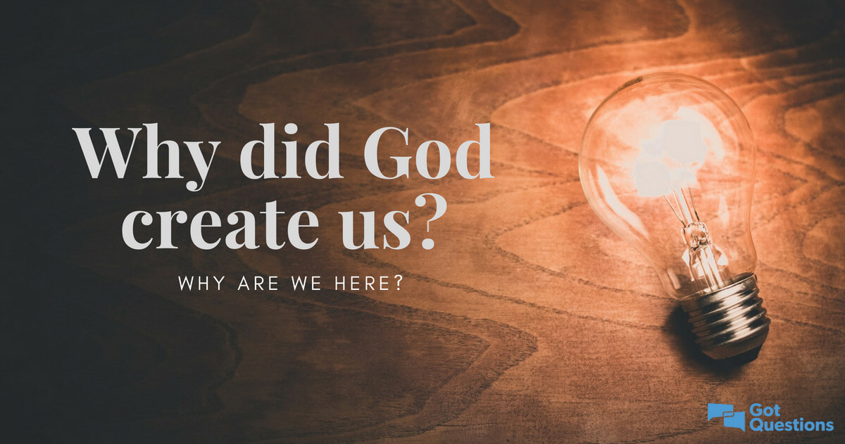 Why did God create us? Why are we here? | GotQuestions org
