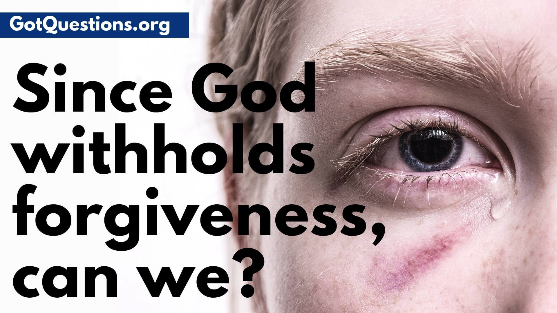 since god withholds forgiveness, can we?